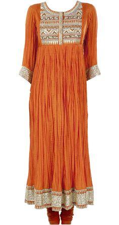 Namrata Joshipura presents Orange aztec kurta set available only at Pernia's Pop-Up Shop. Pakistani Dresses, Indian Dresses, Indian Outfits, Indian Clothes, Abaya Fashion, Modest Fashion, Indian Fashion, Women's Fashion, Indian Attire