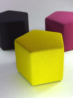 Upholstered Pentagon Pouf 35, comfy, colourful, or simply chic in black | Quinze & Milan