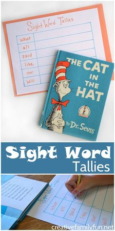 Help your child learn to recognize sight words with this fun Sight Word Tallies learning game.
