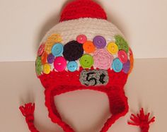 bubble gum machine crochet hat - Google Search