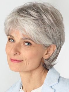 Straight Lace Front Grey Wig For Women