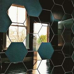 We are a leading manufacturer, supplier, distributor & importer of mirror tiles in India. Design your own unique pattern with our mirror hexagon tiles. Mirror Tiles, Mirror Mirror, India Design, Hexagon Tiles, Glam Room, Dorm Ideas, Home Hacks, College, Interior Design