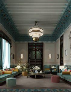 Interior Design Dubai, Interior Design Companies, Interior Architecture, Morrocan Interior, Moroccan Room, Arabian Decor, Moroccan Design, Modern Moroccan, Moroccan Style