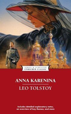 Books: Anna Karenina (Enriched Classics (Simon & Schuster)) (Book) by Leo Tolstoy (Author) Good Books, Books To Read, My Books, Leo Tolstoy Books, Novel Movies, Famous Novels, Beloved Book, Anna Karenina, Classic Books