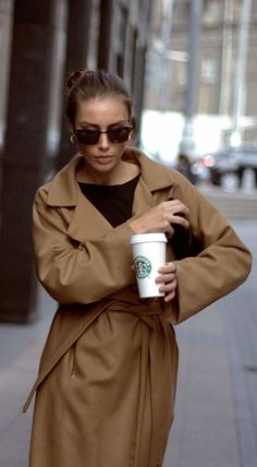 coat + starbucks