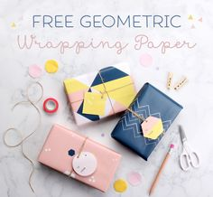 Free Geometric Printable Wrapping Paper ~ Tinyme
