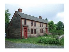 FARMHOUSE – vintage early american farmhouse like this early american saltbox style, dated to 1721.