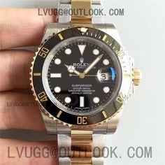 Rolex Submariner 116613 LN Black Dial & Bezel on SS/YG Bracelet A2836