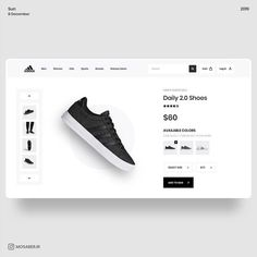 UX & UI Stack в Instagram: «Adidas Shoe Store concept by @mosaber.ui⠀ ⠀ ⠀ ..⠀ ..⠀ ..⠀ Want to become a better UX/UI Designer?⠀ Find our different UX/UI offers and…» Web Design, Make Design, Your Design, Daily Ui, Ui Design Inspiration, Adobe Xd, Ui Kit, User Interface, Adidas Shoes