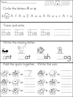 A Teeny Tiny Teacher - Kindergarten Morning Work. Could use for a homework review.