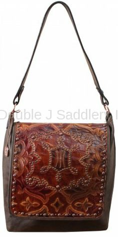 d9f60d6f34f7 Boot Stitch Leather Print Messenger Bag by Double J Saddlery.