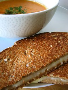 Creamy tomato soup with grilled cheese from Mark Bittman - a great way to end the day.