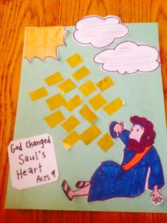 God changed saul's heart bible craft by let bible crafts by Sunday School Crafts For Kids, Bible School Crafts, Bible Crafts For Kids, Bible Study For Kids, Sunday School Lessons, Preschool Bible Activities, Preschool Crafts, Vbs Crafts, Bible Story Crafts