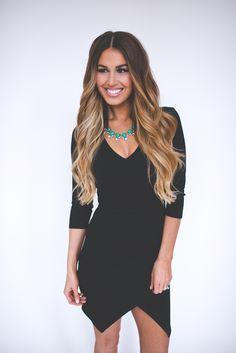 Dottie Couture Boutique - Asymmetrical Dress- Black , $39.00 (http://www.dottiecouture.com/asymmetrical-dress-black/)