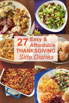 27 easy and affordable Thanksgiving side dish recipes