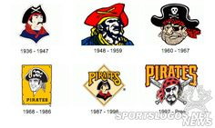 Pittsburgh Pirates 2013 | Pittsburgh Pirates logos of the past from 1936-2013
