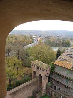 Vignola e il fiume Panaro visti dalla Torre del Pennello