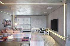 FJ House by Studio Guilherme Torres - Design Magazine Zeitgenössisches Apartment, Apartment Interior, Beton Design, Design Living Room, Beautiful Houses Interior, Contemporary Apartment, Office Interiors, House Interiors, Modern Interior Design