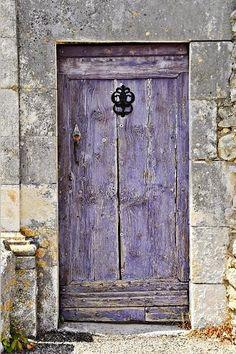 Purple door, entrance, come on in, door knocker, wall, beauty, architechture, photograph, photo