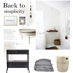 Back to simplicity by anna-lena-als on Polyvore featuring polyvore, interior, interiors, interior design, home, home decor, interior decorating, Lene Bjerre, Bloomingville and Threshold