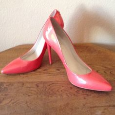 IVANKA TRUMP PUMPS Awesome! Size 10 Peach Patent Pumps. With 4 inch heels. Like new shape. Ivanka Trump Shoes Heels