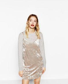 Image 2 of VELVET DRESS from Zara