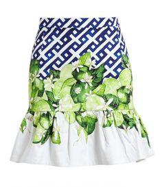 Contrast Print Cotton Mini Skirt @scrapwedo