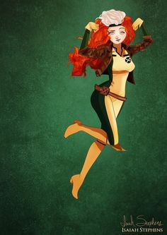 Merida as Rogue Disney Princesses as Pop culture icons!