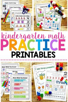 Help your students with their fine motor skills and practicing their numbers and ten frames. These worksheets are perfect for preschool or kindergarten! #printables #1-20 #11-20 #kids