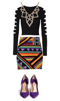 """purple/cut-out/geometric"" by rb-originals ❤ liked on Polyvore featuring Cushnie Et Ochs, Chicnova Fashion and Paul Andrew"
