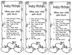 decoding strategies for parents (bookmark)