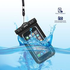 JOTO Universal Waterproof, Snowproof, Dirtproof Case Bag for iPhone 6, 6 Plus, 5S 5C 5 4S, Samsung Galaxy S6, S6 Edge, S5, S4, S3, Note 4 / 3 / 2 / 1, HTC One M9, M8, M7, Max, LG G4 G3 G2, Nexus 6, 5, 4, Sony Xperia Z3, Z2, Z1, Nokia Lumia, BlackBerry, Motorola MOTO G, X, E - Also fits other Smartphone, iTouch, MP3 player, up to 6-Inch Diagonal, Credit Card Wallet Money Dry Bag, IPX8 Certified to 100 Feet (Black)