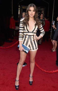 Hailee Steinfeld in a beaded Zuhair Murad romper at the 2015 American Music Awards