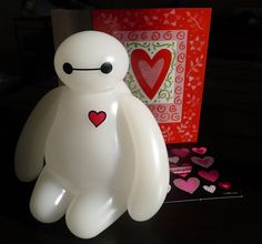 "Big Hero 6 Baymax USB LED Nightlight Valentine's Day Special Edition ""Will be my Baemax"" It comes with a Disney Baymax nightlight a Valentine card, leave your words on note section while you check out Disney Valentines, Happy Valentines Day, Disney And Dreamworks, Disney Pixar, Big Hero 6 Baymax, Disney Love, Night Light, Decoration, Just In Case"