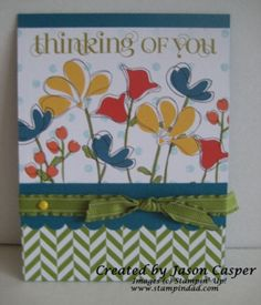 Awash with Flowers done with MDS on this hybrid card. Thanks Jason!