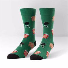 Sock It To Me Mens Crew Beer Can Chicken Socks