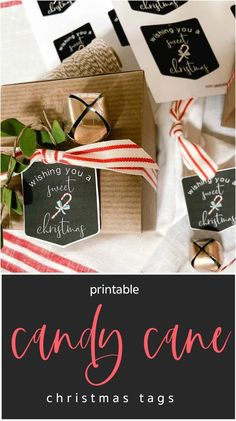 Candy Cane Printable Christmas Gift Tags Holiday Christmas Gift Tags Printable, Holiday Gift Tags, Handmade Christmas Gifts, Best Christmas Gifts, Christmas Printables, Christmas Holidays, Holiday Ideas, Christmas Ideas, Christmas Crafts