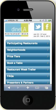 Restaurant Week Mobile Website Design #mobilewebsite #design #mobile