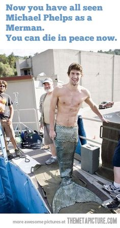 Funny pictures about Michael Phelps as a Merman. Oh, and cool pics about Michael Phelps as a Merman. Also, Michael Phelps as a Merman. Annie Leibovitz, Michael Phelps, Z Cam, Tom Daley, Zoolander, Leo Valdez, Jason Grace, Raining Men, Funny Memes