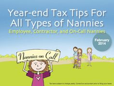 Year End Tax Tips for Nannies Dont Be Discouraged, Babysitting, School, Tips, House, Haus, Houses, Home, Homes