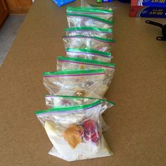 Ready-to-Go Frozen Smoothie Packs. Love this pre-packaged smoothie idea. It saves time and money!