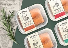This Salmon Packaging Concept Adds an Elegant, Mythical Touch #branding trendhunter.com