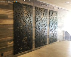 Laser cut screens - Moss and Oak restaurant, Savannah - Dapple design by Miles and Lincoln. www.milesandlincoln.com