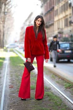 As the chill factor begins to take full effect, bare legs are becoming a distant memory. From colorful trousers, to prints on pants and skirts, click through for the best street style leg moments to inspire your winter wardrobe. Let the layering begin.