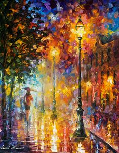 "22 Dream On — PALETTE KNIFE Modern Fine Art Landscape Oil Painting On Canvas By Leonid Afremov - Size: 24"" x 30"" (60cm x 75cm)"