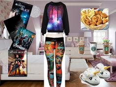 """My """"Movie Night"""" outfit made on polyvore."""