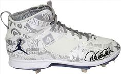 cc95a717f53 Derek Jeter Signed 2014 All Star Game Model White Commemorative Cleat LE of  27 STEINER.