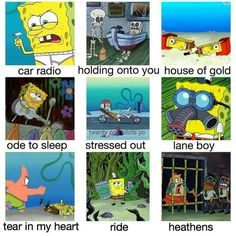 car radio should be spongebob as ms puffs car radio obviously good god get your memes right