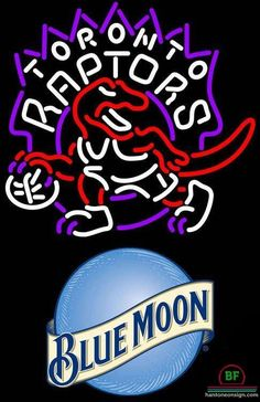 4f1c4659c3a Blue Moon Toronto Raptors Neon Sign NBA Teams Neon Light