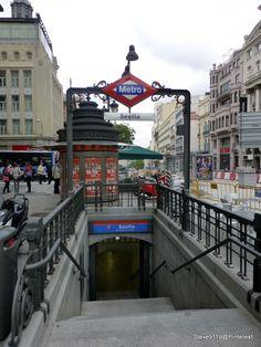 Sevilla Metro station @ Madrid, Spain